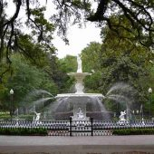 Forsyth Park, Savannah, Georgia, Visit in USA