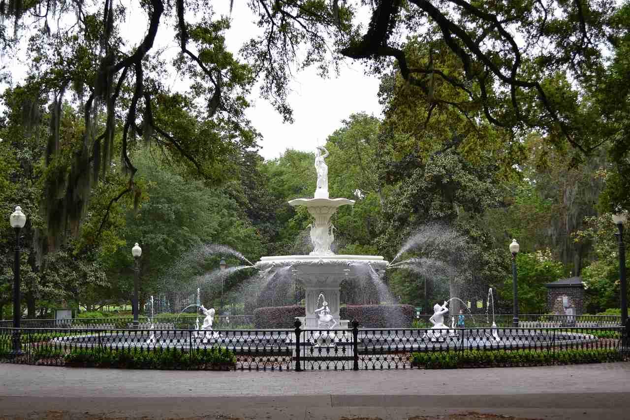 Forsyth Park, Savannah, Georgia, Visit in USA