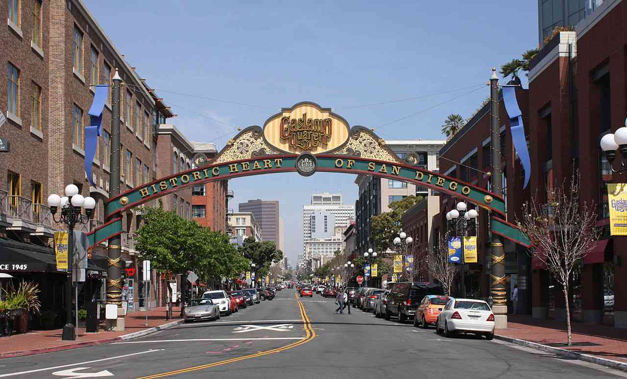 Gaslamp Quarter, San Diego, California, Visit in USA