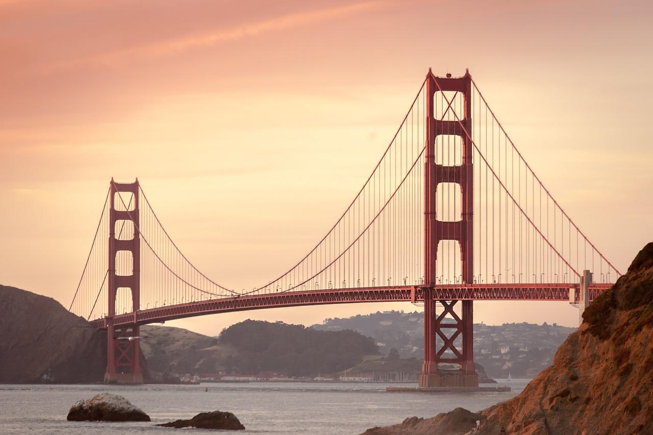 Golden Gate Bridge, San Francisco, California, Visit in USA