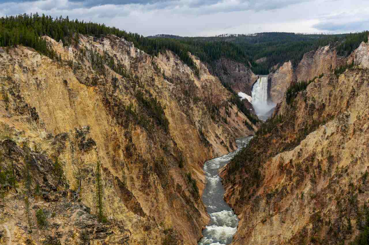 Grand Canyon of the Yellowstone, Yellowstone National Park,Wyoming, Montana, and Idaho, Visit in USA