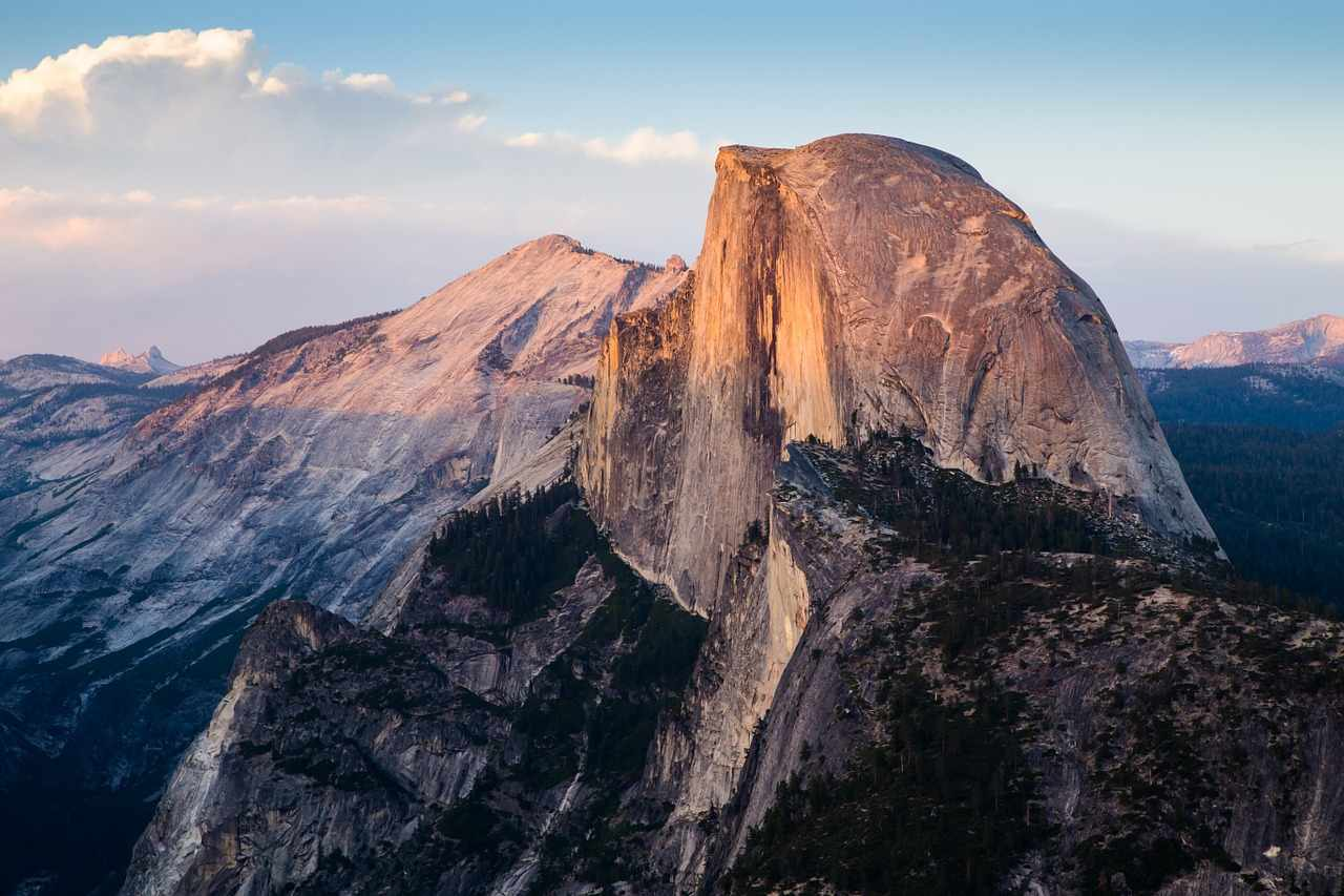 Half Dome, Yosemite National Park, California, Visit in USA