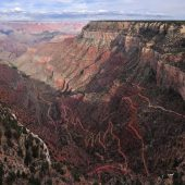 Hermit Road Drive, Grand Canyon National Park, Arizona, Visit in USA