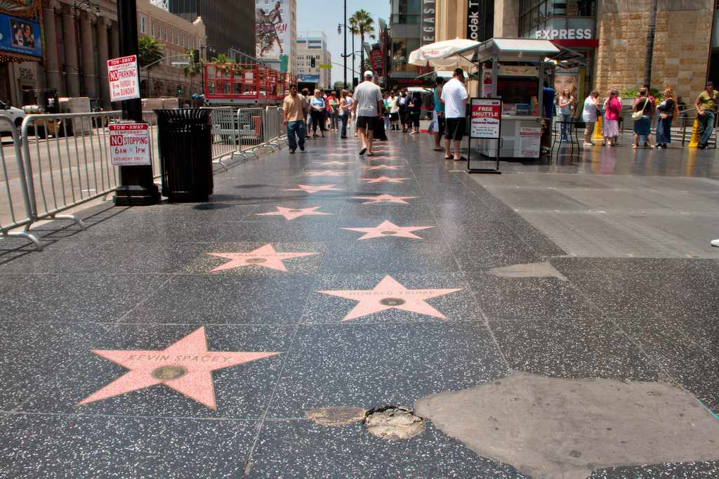 Hollywood Walk of Fame, Los Angeles, California, Visit in USA