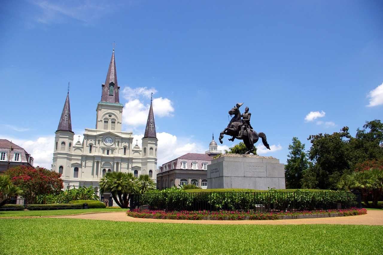Jackson Square, New Orleans, Louisiana, Visit in USA