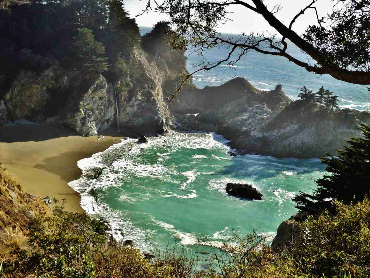 Julia Pfeiffer Burns State Park, Big Sur, California, Visit in USA