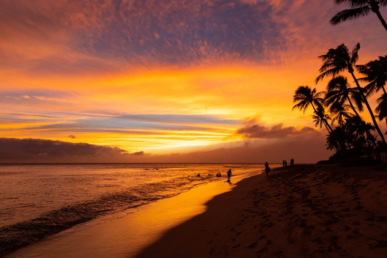 Kaanapali Beach, Maui, Hawaii, Visit in USA