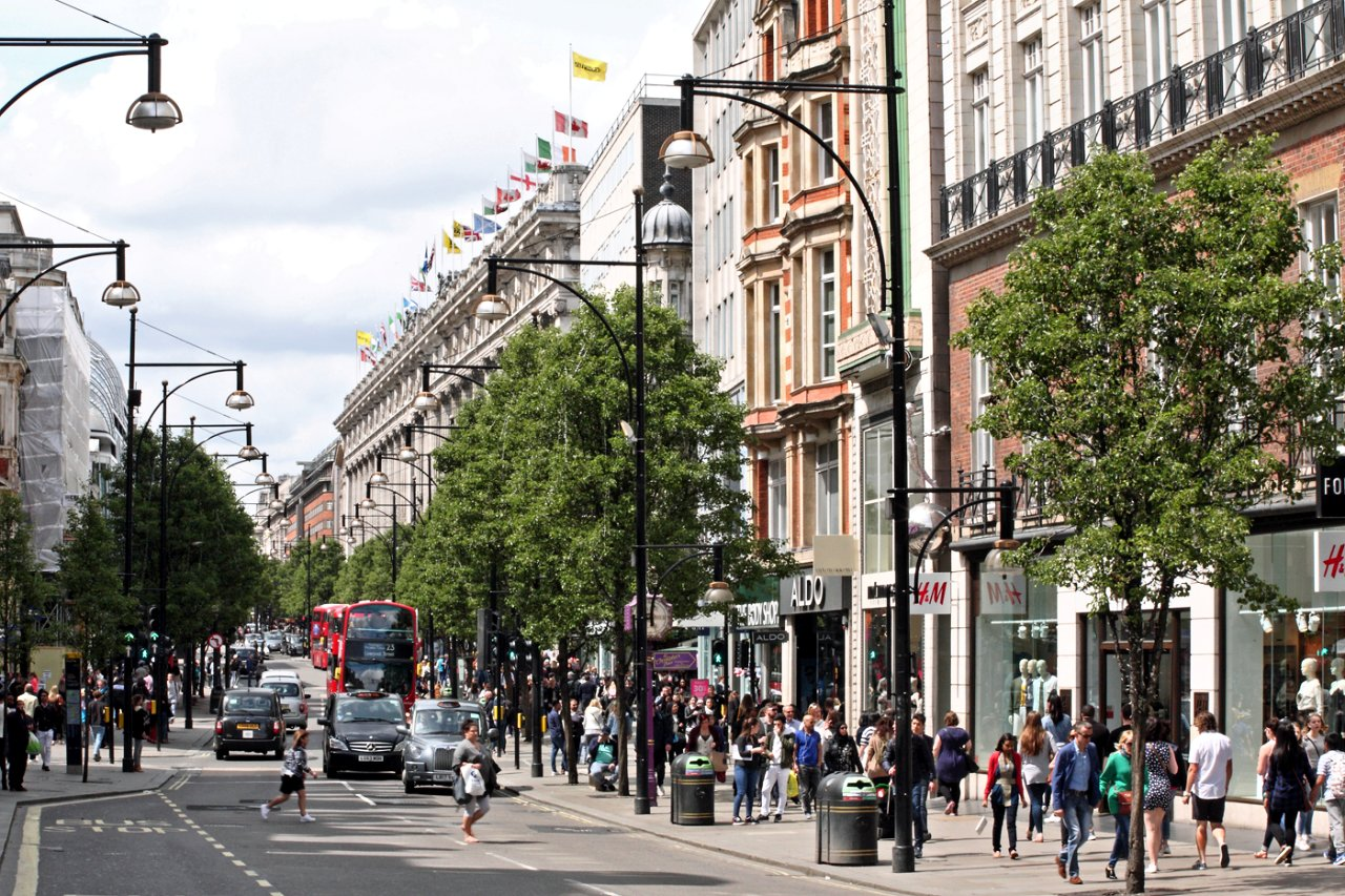 Oxford Street, Places to visit in London