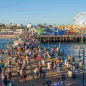 Santa Monica Pier, Los Angeles, California, Visit in USA