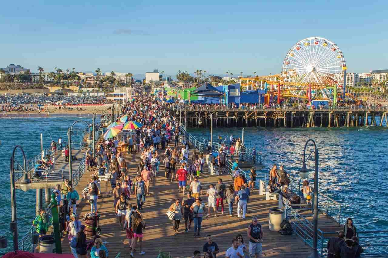 Santa Monica Pier, Los Angeles, California, Visit in USA