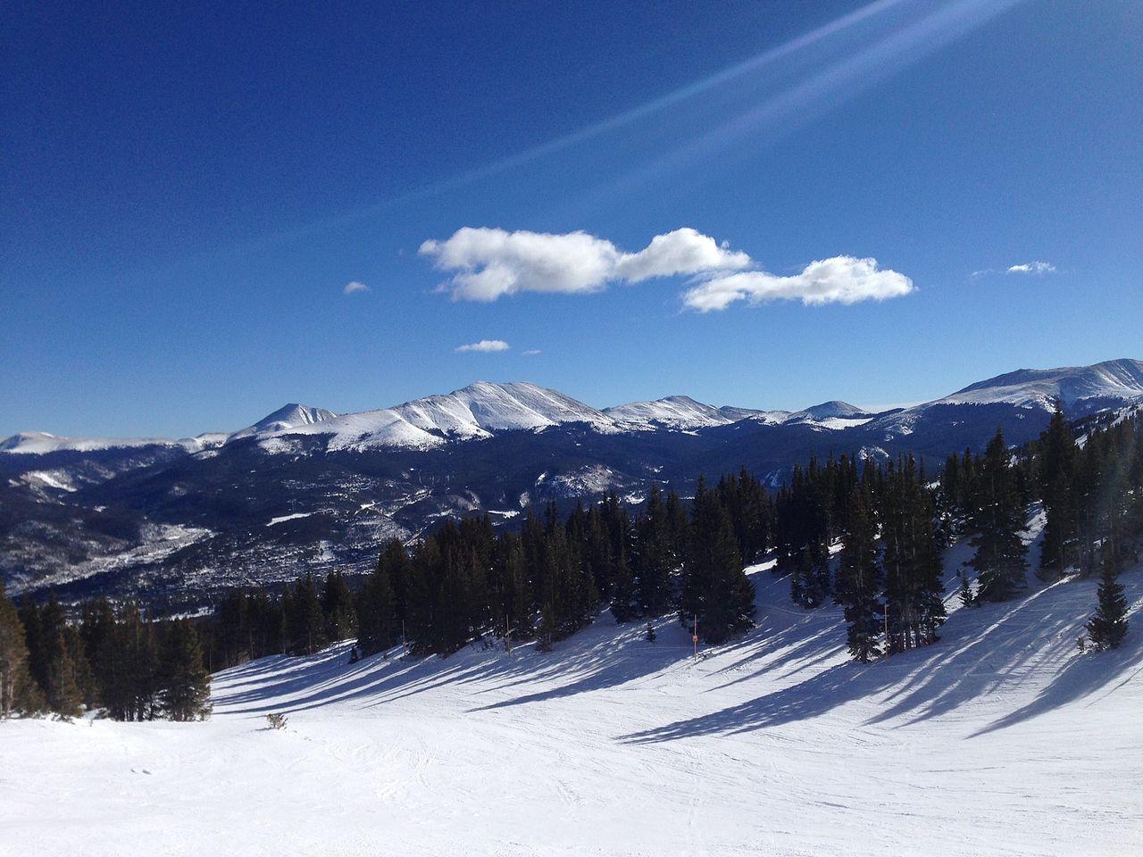 Snow mountains on Breckenridge, Colorado, USA
