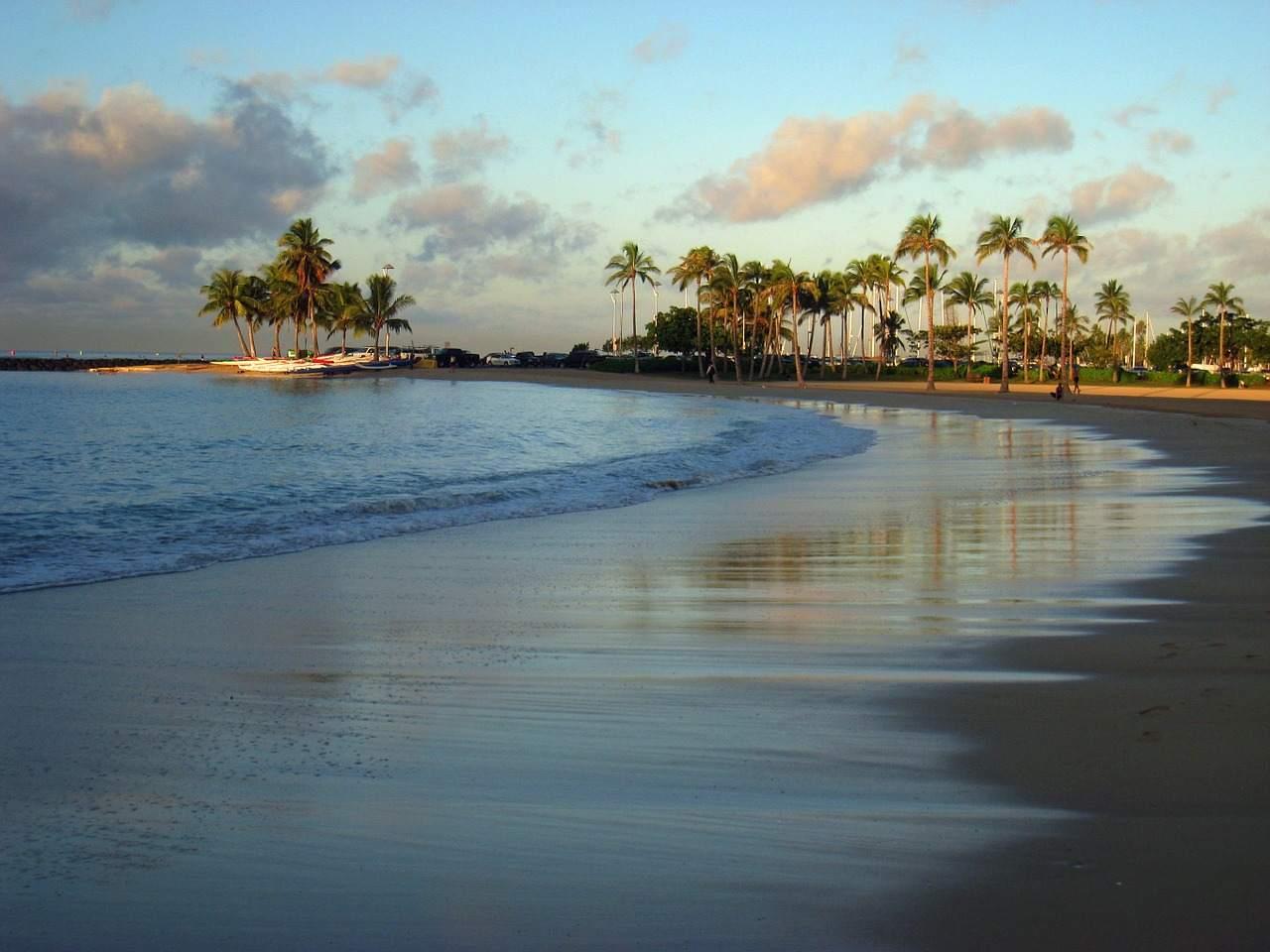 Waikiki Beach, Honolulu-Oahu, Hawaii, Visit in USA