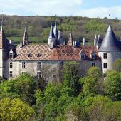 Burgundy Vineyards, Rochepot, Castles in France