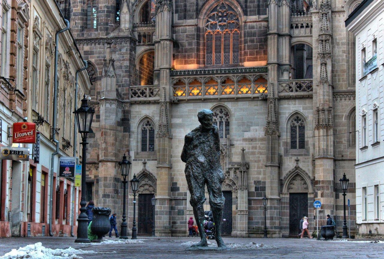 Julius Jakoby's statue, Kosice, Slovakia
