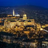Matthias Church and Buda Castle view at night, Budapest, Places to Visit in Hungary