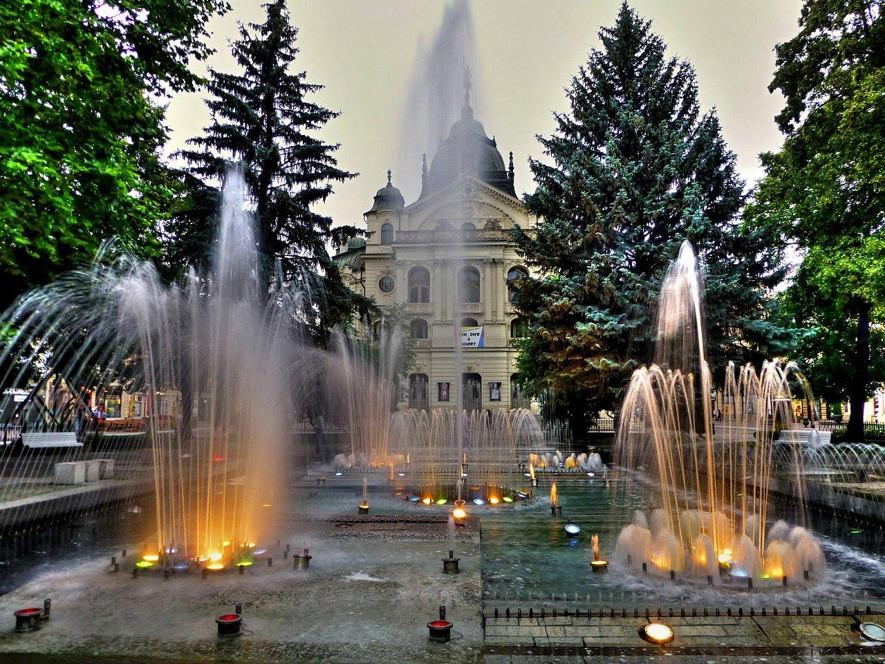Singing fountain in Kosice, Slovakia
