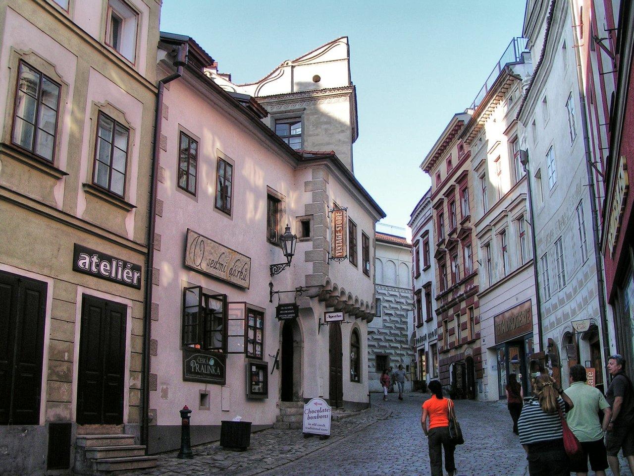 Streets of Cesky Krumlov, Czech Republic