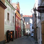Streets of the old city, Cesky Krumlov, Czech Republic