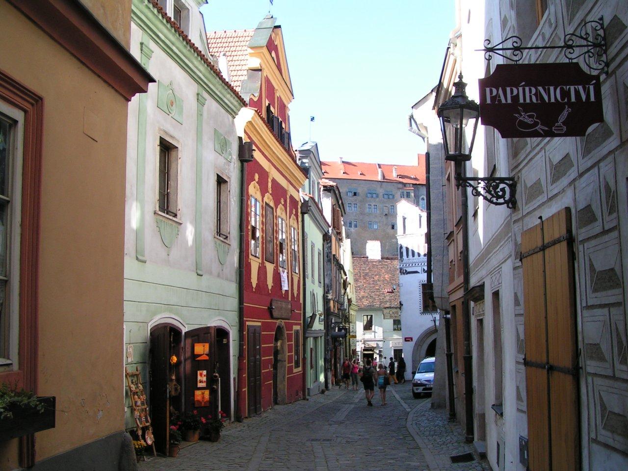 Streets of the old city, Cesky Krumlov, Czech Republic