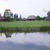 Open-air museum in Bialowieza, Poland