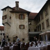 Otočec Castle courtyard, Best places to visit in Slovenia