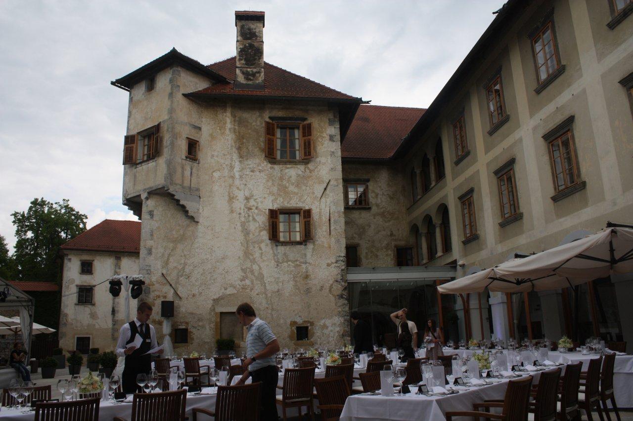 Otočec Castle courtyard, Best places to visit in Slovenia