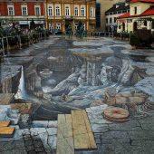 Painting 3D Salt World,Wieliczka, Poland