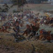 Panorama of the Battle of Raclawice, Wroclaw, Poland