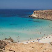 Beach on Rabbit Island in Lampedusa, Sicily, Best Italy Beaches