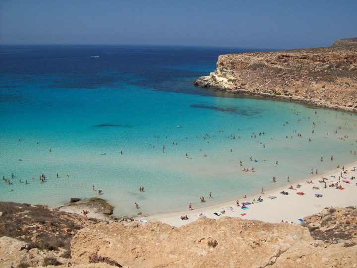 Beach on Rabbit Island in Lampedusa, Sicily, Best Italy Beaches