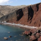 Red Beach, Santorini, Greece beaches