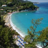Tsamadou beach, Samos, Greece beaches