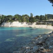 Beach of Passable in Saint-Jean Cap-Ferrat (Alpes-Maritimes, France)