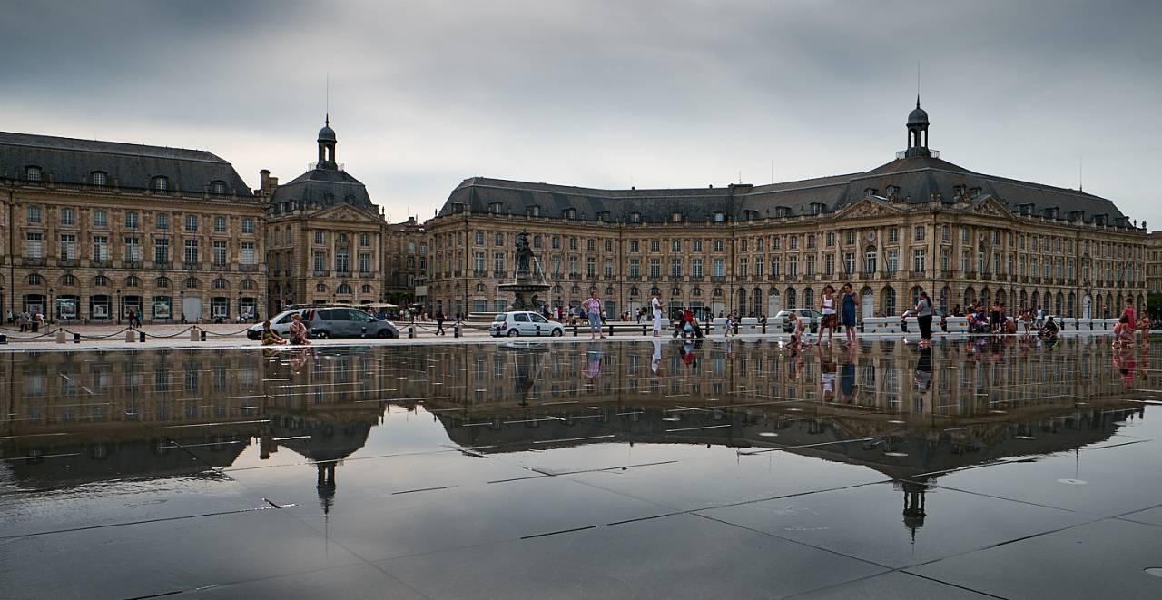 Plaza de la Bolsa,Bordeaux, Port of the Moon, Unesco France