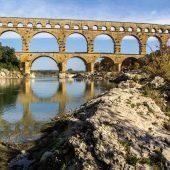 Pont du Gard Roman Aqueduct, Unesco France