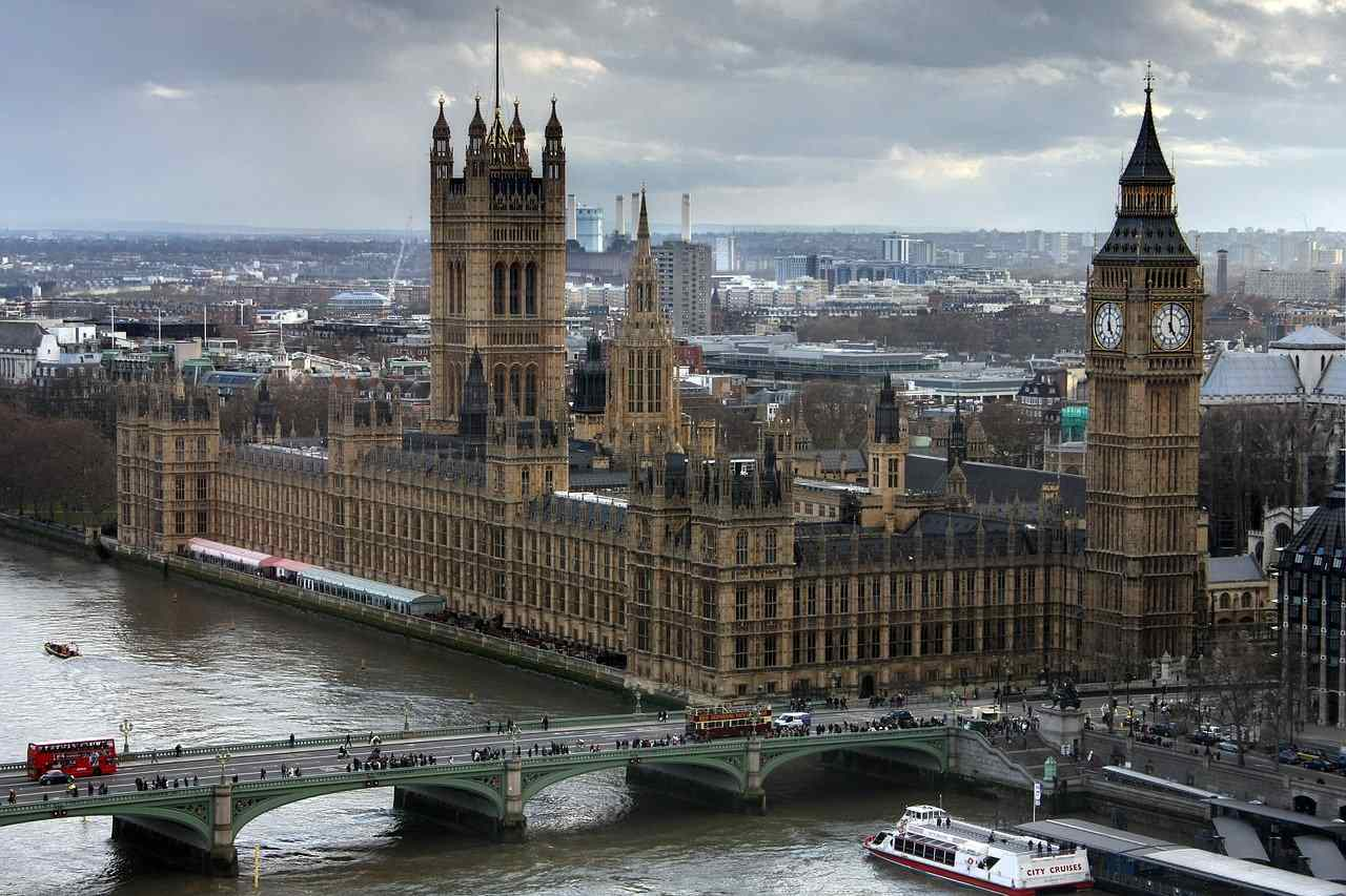 Palace of Westminster, London, Cities in England