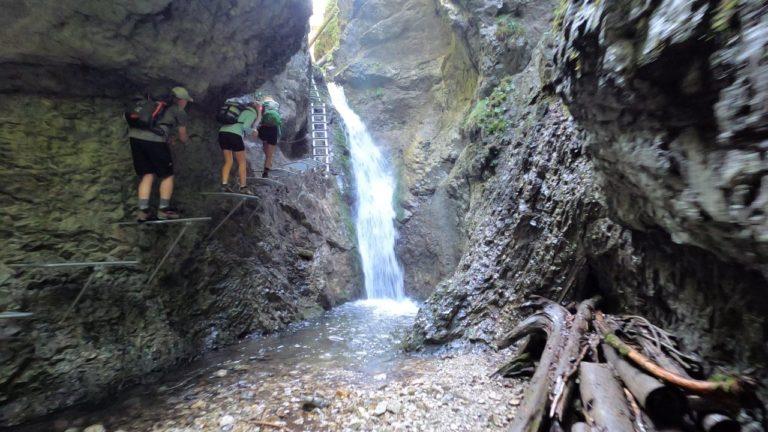 Veľký vodopád - waterfall in Veľký Sokol gorge, Slovak Paradise National Park, Slovakia