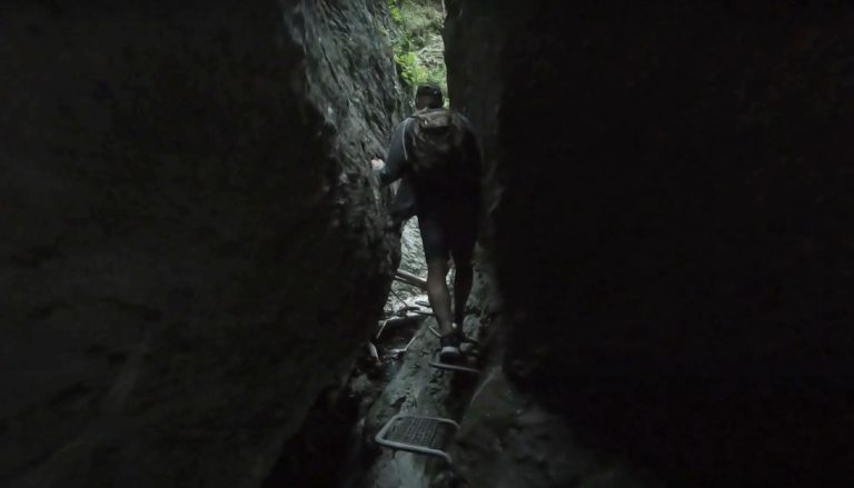 The narrowest part of Sucha Bela gorge in Slovak Paradise National Park